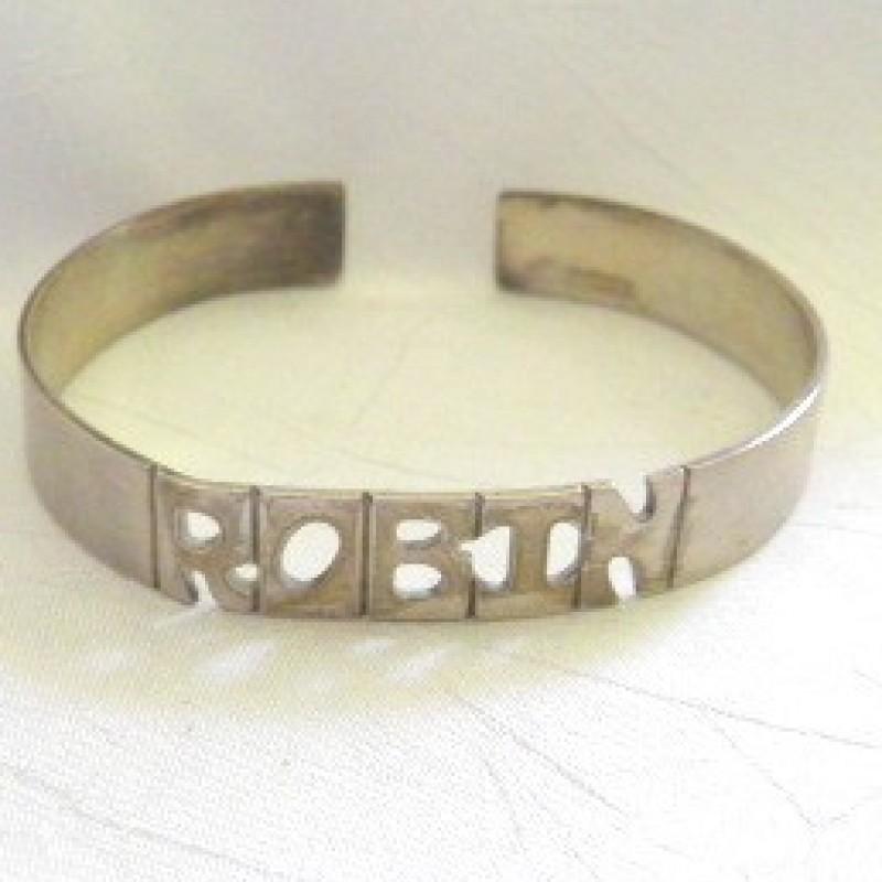 """Sterling """"ROBIN"""" Cuff Bracelet"""