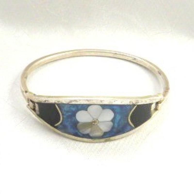 Silver Inlay Bracelet