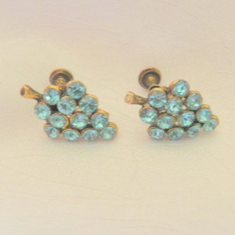 Aqua Cluster Earrings