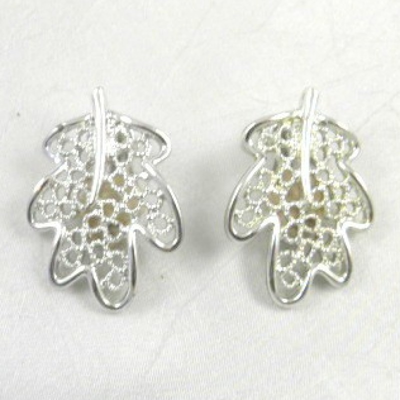 'Frosted Leaves' Earrings