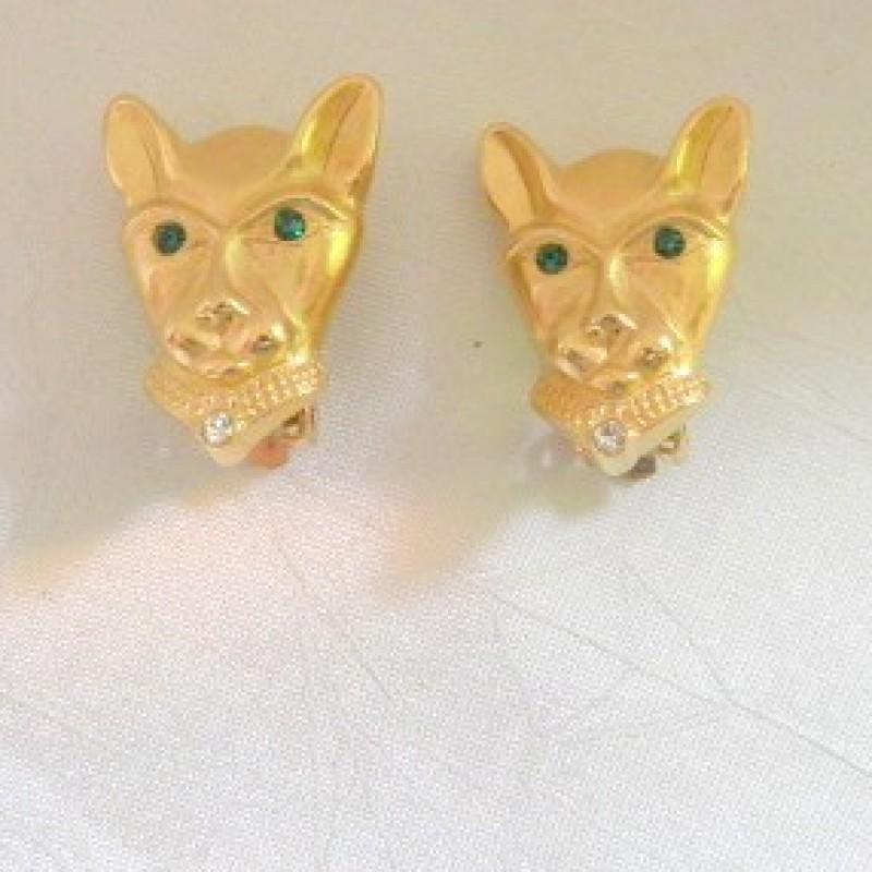Egyptian Cat Earrings