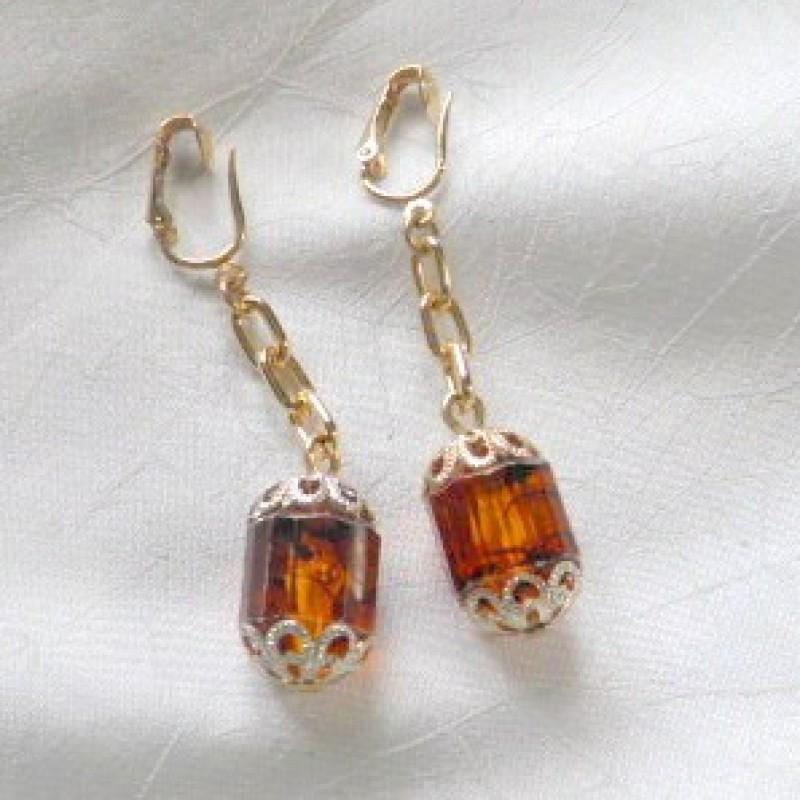 Golden Lantern Earrings