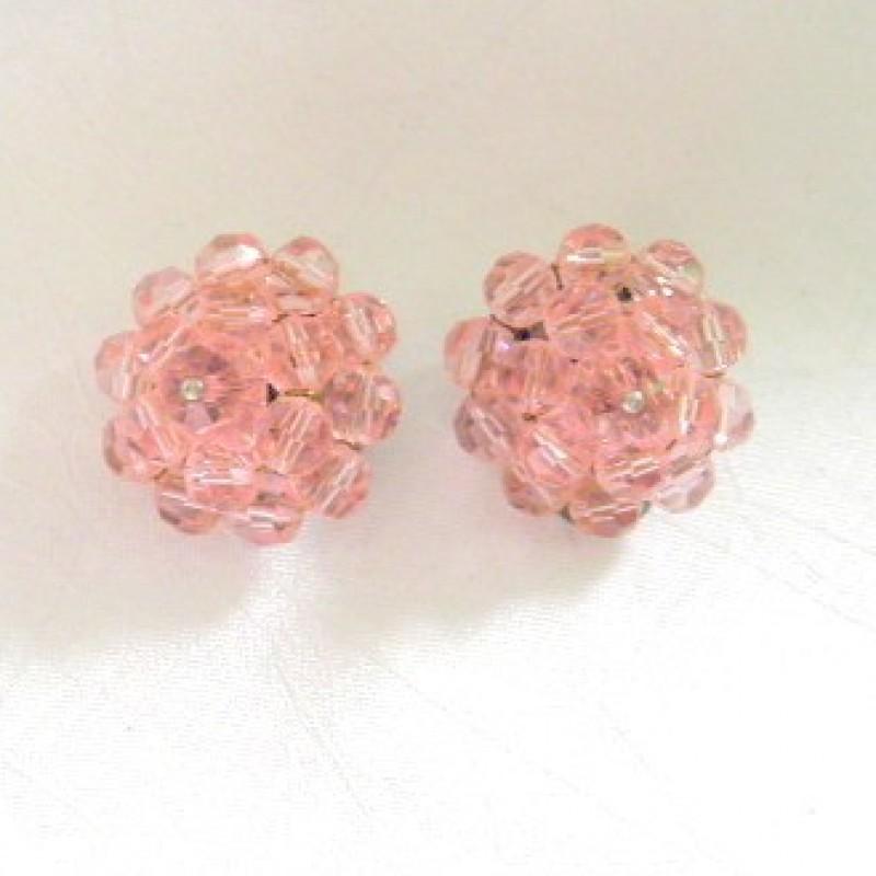 Pink Crystal Earrings