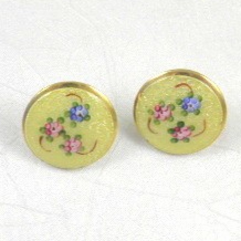 Vintage Cloissione Earrings