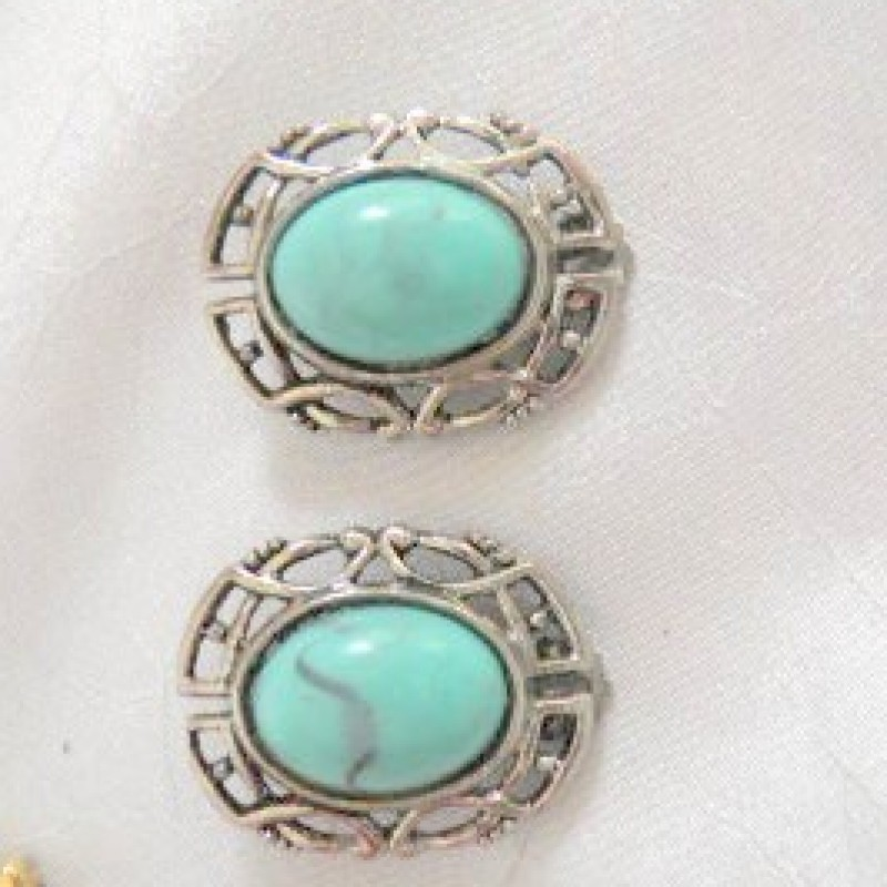 Turquois & Silver Earrings