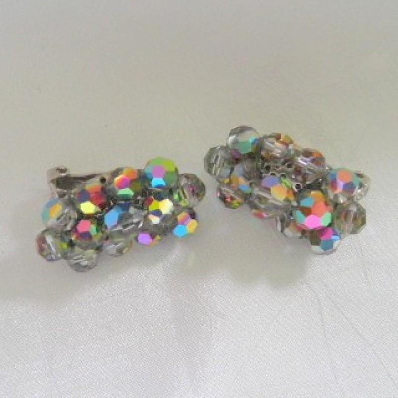 Crescent Beaded Earrings
