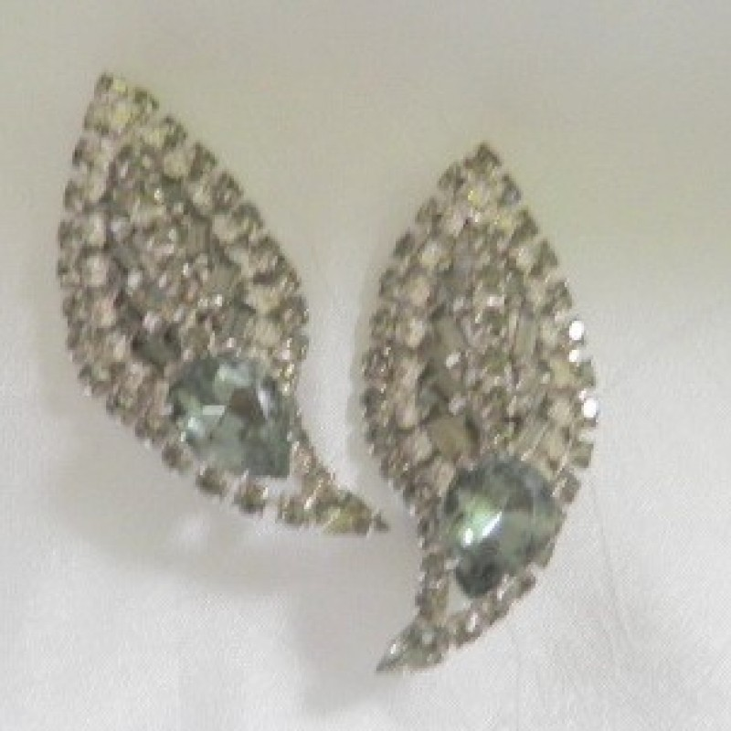 Crescent Rhinestone Earrings