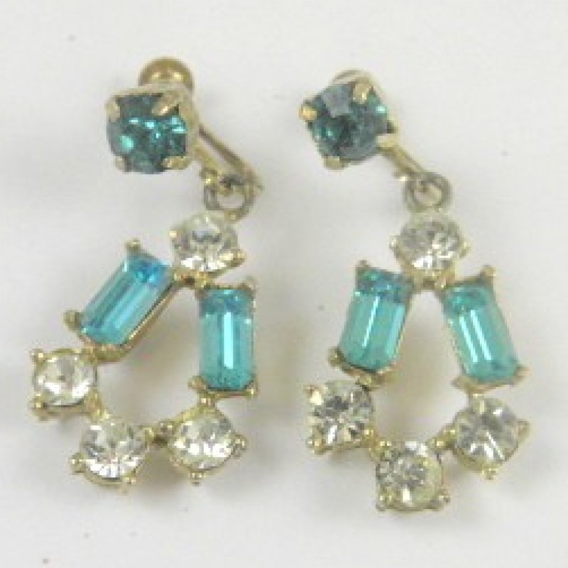 Vintage Aqua Earrings