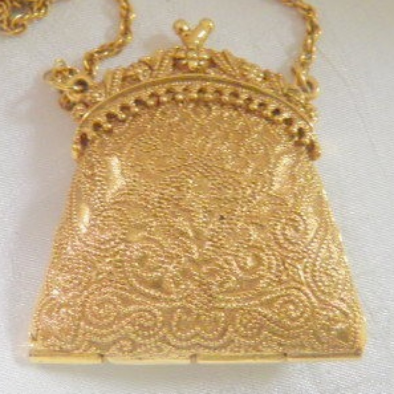 MFA Golden Purse Necklace