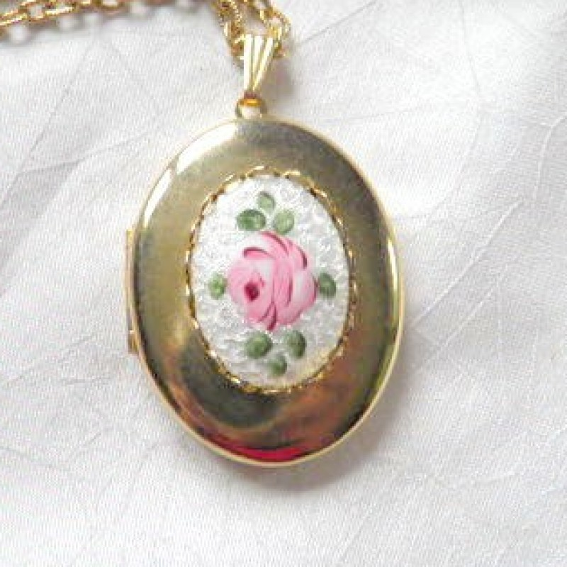Rose Locket Necklace