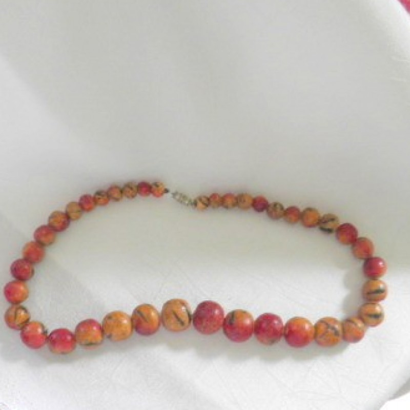 Apple Coral Necklace
