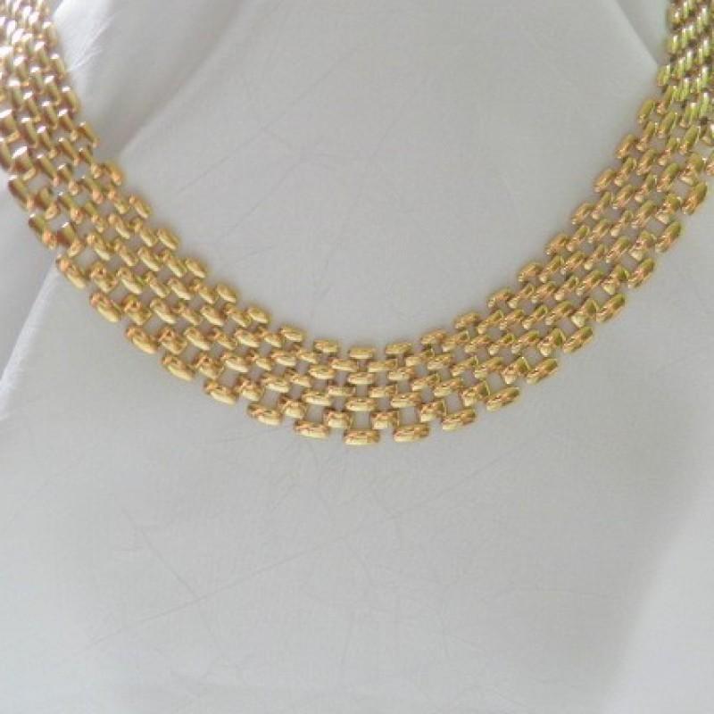 Golden Mesh Necklace