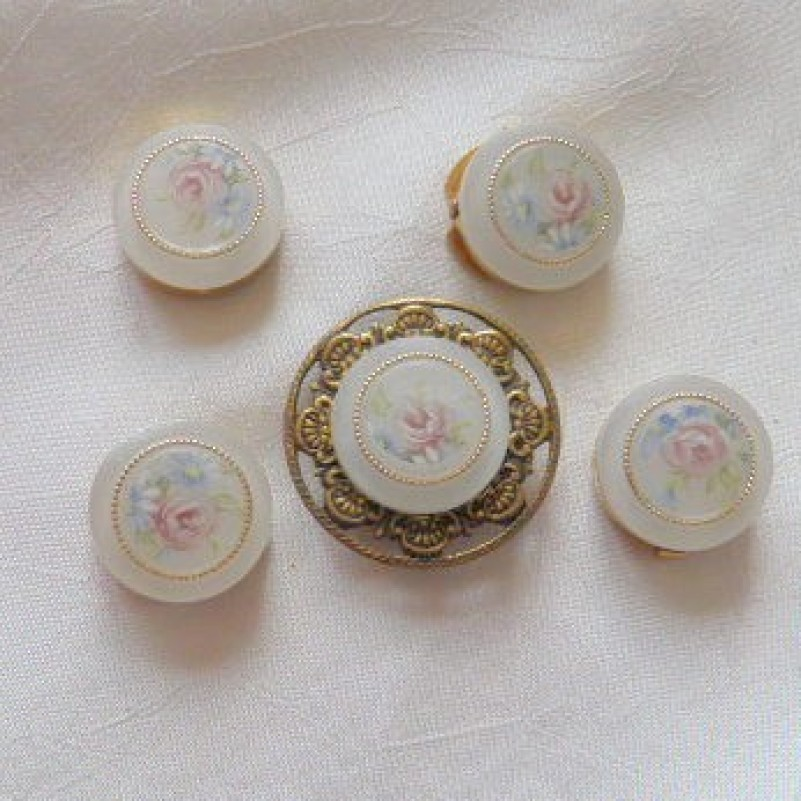 Rose Button Covers