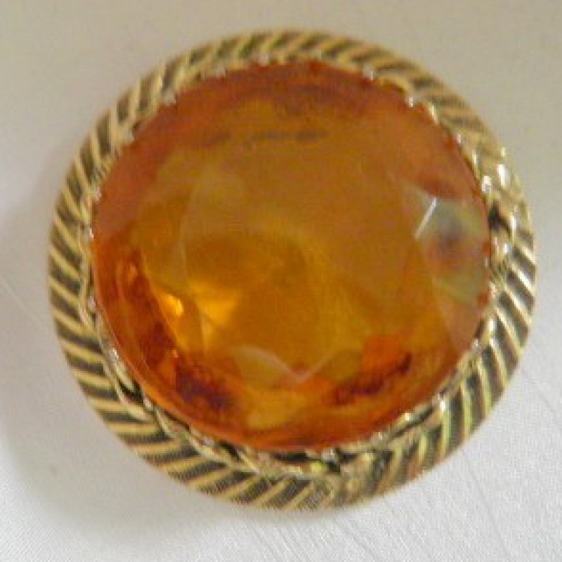 Friedrich Citrine Brooch