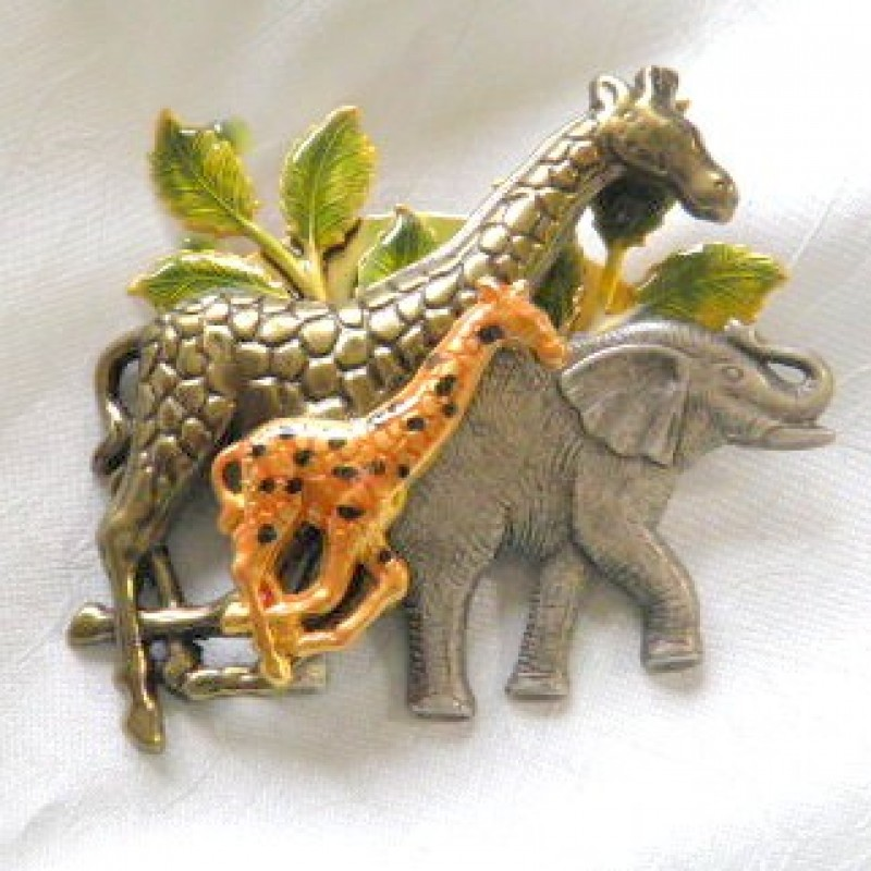 Safari Animal Pin