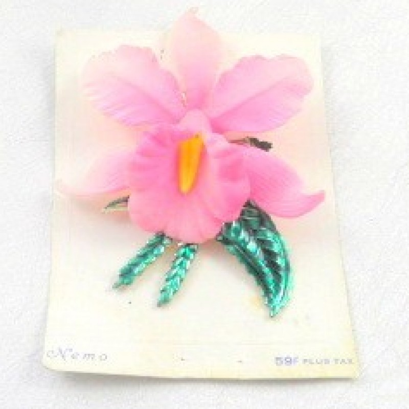 Nemo Pink Orchid Pin