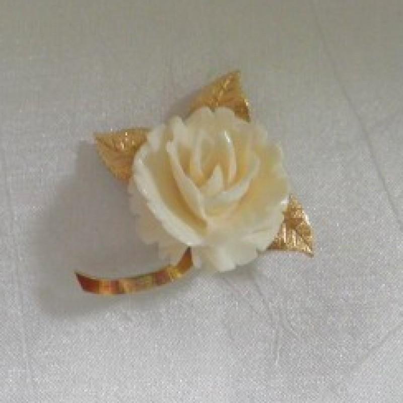 Ivory Rose Pin