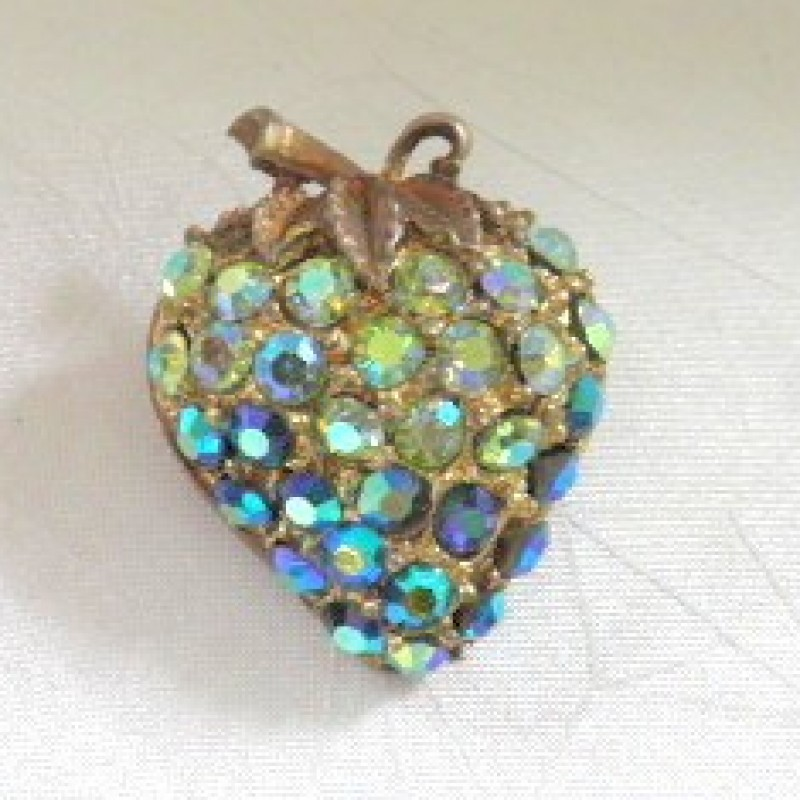 Blue Strawberry Pin