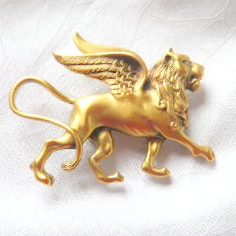 Winged Lion Pin