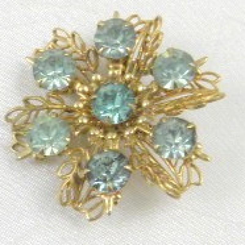 Vintage Aqua Pin