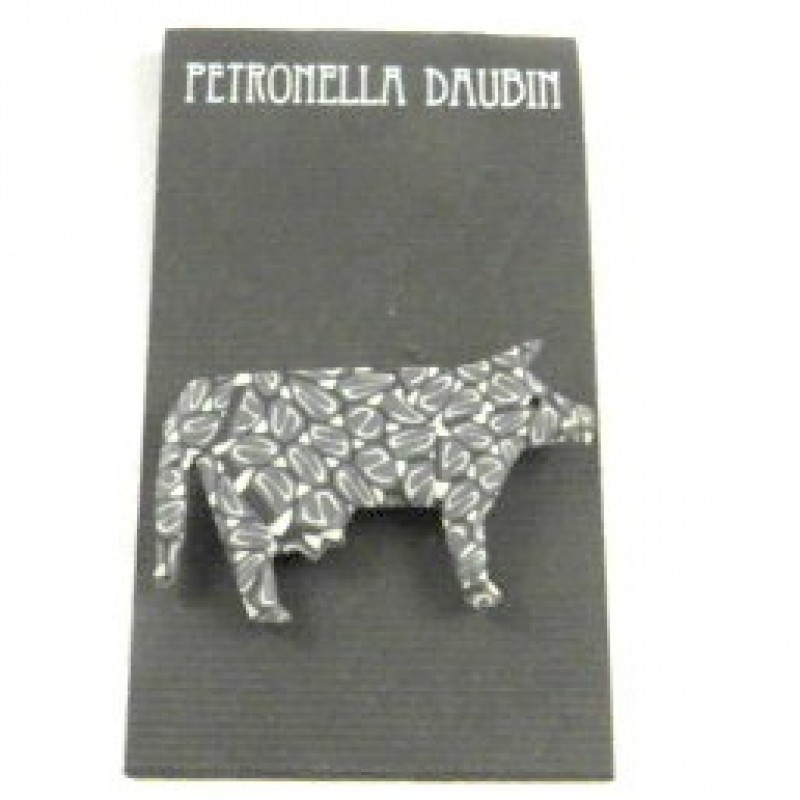 Daubin Gray Cow Pin