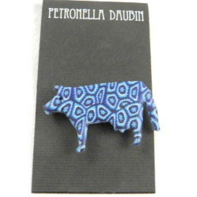 Daubin Blue Cow Pin