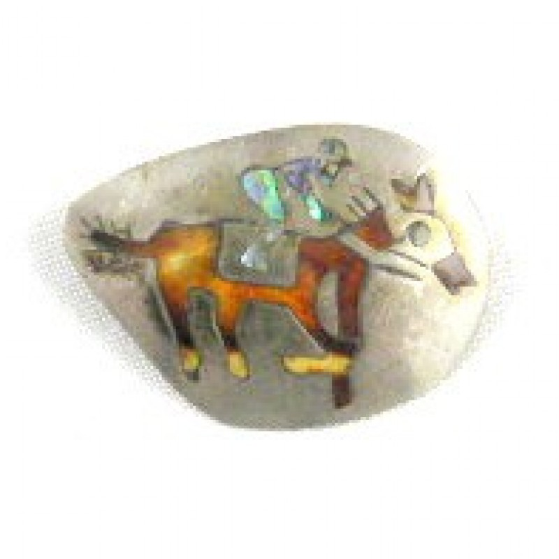 Sterling Taxco Jockey Pin