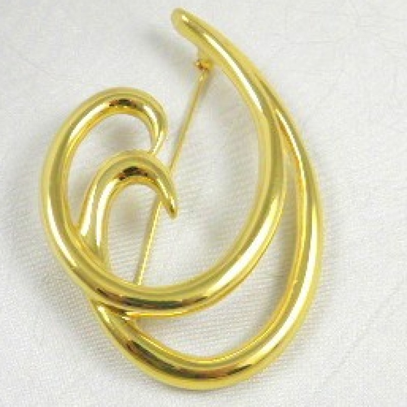 Trifari Swirl Pin