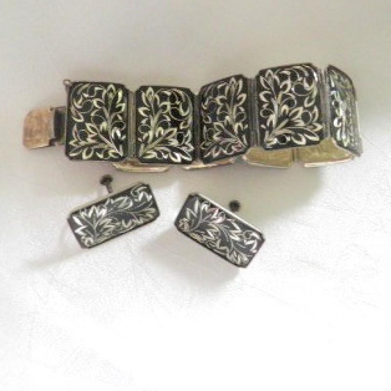 Silver/Enamel Set