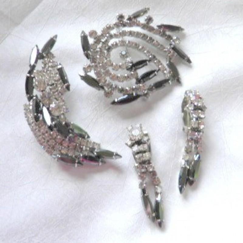 Rhinestone Pins & Earrings