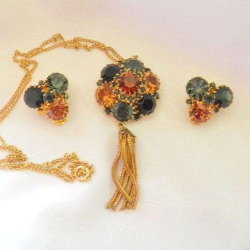 Multi-Colored necklace & Earring Set